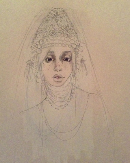 Idk I gave her a Thai headdress. (kind of)  don't know if I like it yet