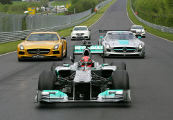 Mercedes Mafia in Nürburgring