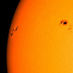 astronemma:  Sunspot Blasting Out Major Solar Flares Will Face Earth Soon  The super-active sunspot responsible for unleashing the three most powerful solar flares of 2013 within a 24-hour stretch this week is slowly rotating toward Earth and will likely be facing our planet by the weekend, experts say. Active Region 1748, as the sunspot is known, unleashed three monster solar flares between Sunday and Monday (May 12 to 13). Every one of the solar storms registered as an X-class flare — the most powerful type — with each successive event stronger than the last, culminating in an X3.2 megablast Monday night. These solar explosions did not affect Earth, since AR1748 was not facing our planet at the time. But the sunspot is now circling into view, so future flares and any associated eruptions of super-hot solar plasma — called coronal mass ejections (CMEs) — could potentially target our planet, scientists say.  Read more: [x]