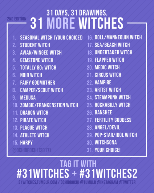 31witches 31witches2 inktober inktober2017 inktober 2017 drawing prompts 2017