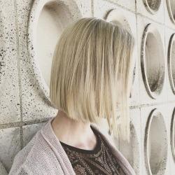 Blonde + Bobbed    #avedacolor + cut hair wizard @priscilamartinez__ 🔮    #hairgoals #bobhaircut #styledbyaveda #freshness (at The Establishment Salon - LA)