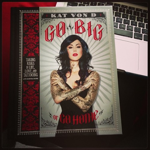 Finally getting around to reading this! Can't wait! <3 Kat Von D