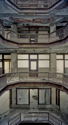 "derelictmetropolis:  (via 500px / Photo ""Lightwell Levels"" by Sean Galbraith)"