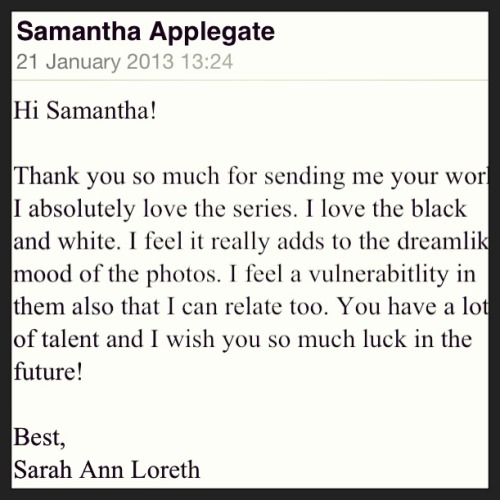 Inspiration! So happy to receive this email :) :D eeee!