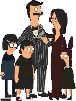 My art Addams Family Bob's Burgers HEY WREV!!!