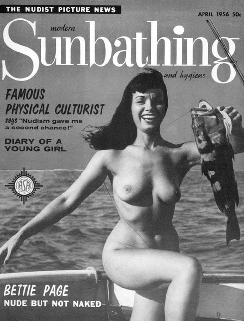 "Bettie Page: ""I love to swim in the nude and roam around…"