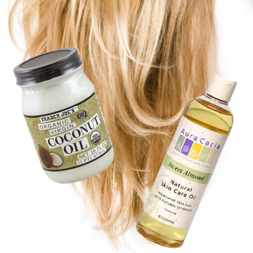 littlemisspaleo:  Coconut / Almond Oil Hair Treatment To preface, my hair is a hot mess.  I've been dyeing, blowdrying, flatironing, and washing it every single day for a very long time.  Incredibly damaging.  It hasn't been until recently that I began letting my hair air dry more and brushing it every evening with a boar-bristle brush to distribute the natural oils, which allows me to go longer between washings.  That alone has helped quite a bit. Doing an oil treatment will give you AWESOME shine for a few days.  Once a week would be ideal for keeping your hair super soft and shiny on a regular basis.  Believe me, I was afraid to load my hair with oil at first, but it washes out really nicely with a good shampoo and leaves your hair looking freaking magnificent.   I used a combo of coconut and sweet almond oils, but you can experiment with different natural oils as well!  Coconut oil is great as a hot oil treatment, as you need to warm it to melt it anyways.   …  1. Brush Dry HairOils will penetrate dry, thirsty hair better than hair that's been freshly washed and conditioned. Brush hair thoroughly to distribute its natural oils, and drape a towel over your shoulders to catch drips. 2. Go Section by SectionWork the oil into your hair one section at a time. Starting at the ends and using your fingers, work it into the hair until it's saturated. Pay particular attention to dry and damaged areas, which will absorb more oil.  Your hair will look and feel pretty disgusting during this process.  Ignore Pinterest tutorial photos that may suggest otherwise. 3. Lock in the MoistureThis is optional, but blow-drying will help the oils penetrate the hair shaft. Using a dryer with a nozzle attachment on a medium-high setting, direct heat down the hair shaft and away from the scalp. Your hair will absorb much of the moisture it needs when heated; if it still drips, blot the excess with a towel.  Another suggestion is to wind your hair in a bun at the top of your head and go outside if it's sunny and warm. Let Mother Nature do her thang! 4. Sit Back and RelaxIf you haven't already, wind this mess into a bun on the top of your head, clip, and go do something productive, like give yourself a pedicure.  It's recommended that you leave the treatment in anywhere from 30 mins to 2 hours. For a truly deep conditioning treatment, leave the oils on overnight — just make sure to cover your pillow with a towel and be prepared for some messiness! 5. Shampoo, Then RinseApply a heaping handful of a natural shampoo to hair. Work it into the hair and scalp for 3 to 5 minutes.  Rinse.  Repeat if necessary.  Enjoy.