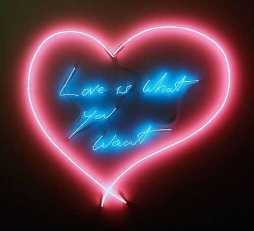"letmypeopleshow:  Love, Tracey: Emin's Times Square Valentines Will Make You Want to Kiss—Or Cry Every night next month, at the stroke of 11:57, Tracey Emin will restore neon and romance to Times Square. On more than 40 screens large and small, for a span of three minutes, her six messages of love will spell themselves out, digitally animated to appear as if being written by a giant unseen hand. Urgent and plaintive, they'll inject the Great White Way with the red glow of passion—not necessarily requited. ""Love is what you want,"" says one. ""I can't believe how much I loved you,"" says another. The display, curated by Times Square Arts, comes just as limited digital editions of the love messages come up for sale at s[edition] starting at $16. How about a screensaver for Valentine's Day? Read more at ARTnews.com"