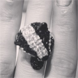 What a darling little sparkling badger ring from @accessorize_USA for fall