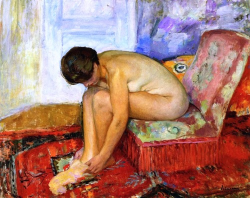 bofransson:  Seated Nude Woman Henri Lebasque - Date unknown