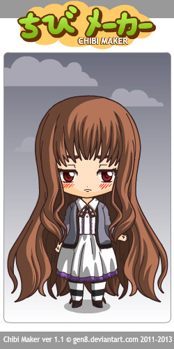 hehe, really cute chibi maker. i wish there were more color shades though