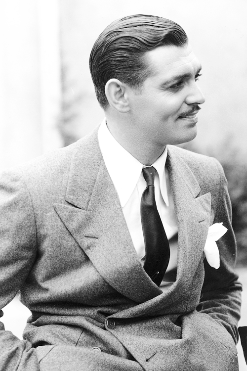 "msmildred:  Clark Gable during the filming of ""Manhattan Melodrama"", 1934."