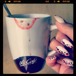#coffe #nails #lipstick