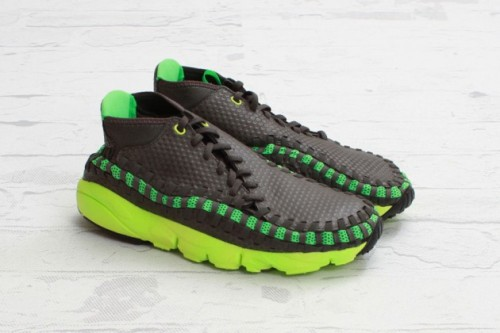 Nike Footscape Woven Chukka Gog/ Poison Green Colourway