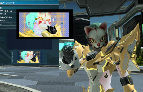 Created a new ID on PSO2 using that symbol art.