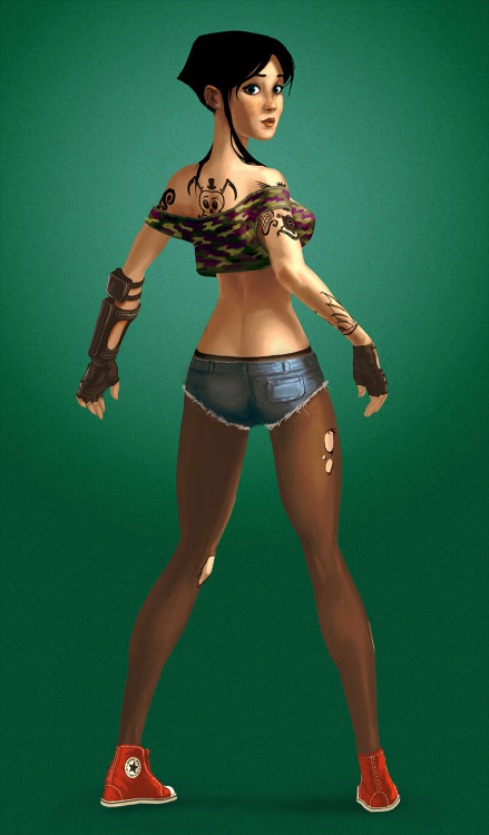gameartbylion:  Now, finished character concept.