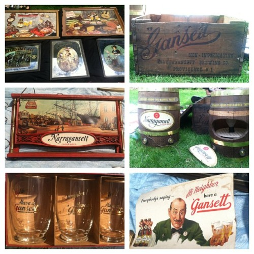 iambreann:  My neighbours are trying to sell a bunch of old school @gansettbeer gear. If the guy coming by today doesn't buy it all, I might try to grab some next week. It's like #HiNeighbor heaven. 😍
