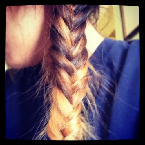 Finally achieved the #fishtailbraid :D