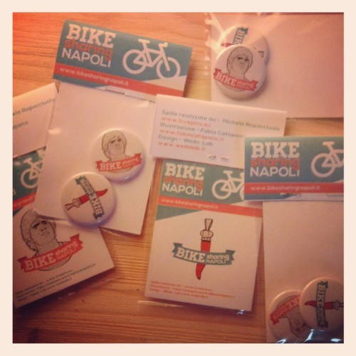 michela-mira:  #bike #sharing #Napoli #pins #wedolab #eatpizzadesign #lovepins #cleanap (presso Wedo Creative Lab)