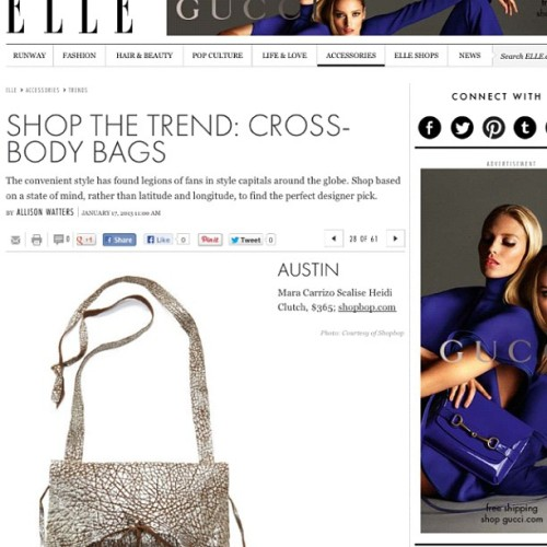 Shop the Trend#ELLE #CrossBodyBag#atShopbop.com#MaraCarrizoScalise#Handmade#Silver#Gold#Metallic