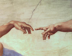 razorshapes:  Michelangelo The Creation of Adam (detail) (1512)
