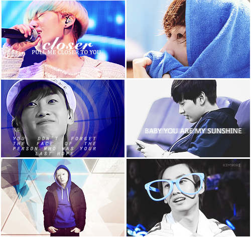 Members & Colors —-> Eunhyuk + Blue