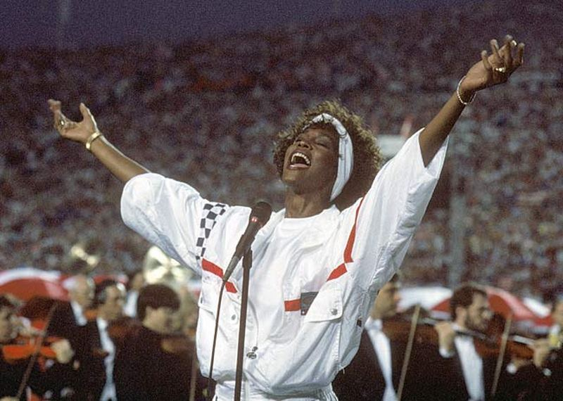 BACK IN THE DAY |1/27/91| Whitney Houston sings The Star Spangled Banner, to open Super Bowl XXV. The Giants defeated the Bills, 20-19 to win their 2nd championship in four years.
