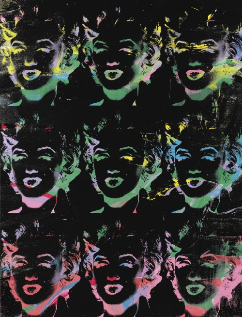 christiesauctions:  Andy Warhol (1928-1987)Nine Multicolored Marilyns (Reversal Series) Post-War & Contemporary Evening Sale