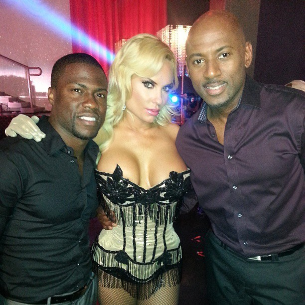 As usual @kevinhart4real c-blocking on me & @cocosworld #TLAMTOO