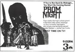 I love local promo ads for horror films and this is one of my favorites. Prom Night newspaper ad courtesy of Starts Today! For more horror newspaper ads, follow Starts Today on Twitter:https://twitter.com/StartsTodayFans