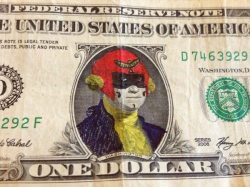 dorkly:  Captain Falcon Dollar Bill FALLLLLLCOOOOOOOOOON CURRENCY!