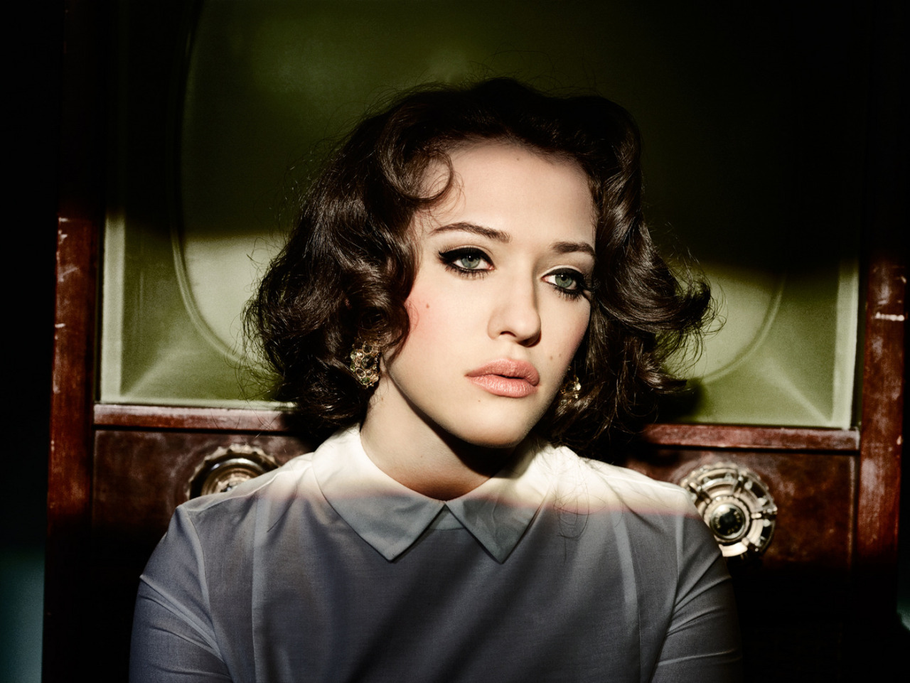 suicideblonde:  Kat Dennings photographed by Kurt Iswarienko