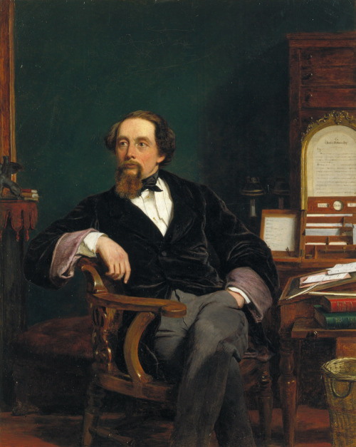 thevictorianduchess:  Charles Dickens in his study William Powell Frith Oil on canvas c. 1859
