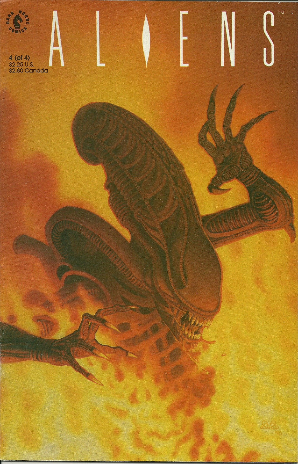 demonsee:  Aliens 1-4 (1989)  Written by Mark Verheiden with art by Denis Beauvais