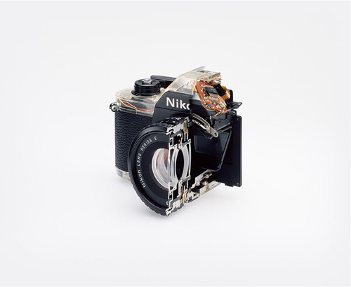 mpdrolet:  Cutaway model Nikon EM, 2008 Christopher Williams   neat