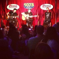 Acoustic set at 107.5 The River in Nashville.