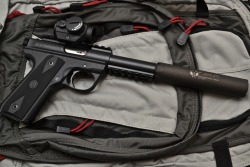 45-9mm-5-56mm:  everyday-cutlery:  Suppressed Ruger MKIII by pleaofwar      (via TumbleOn)