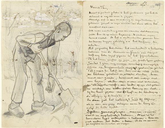 blue-voids:  Letters from Vincent van Gogh to his brother, Theo.