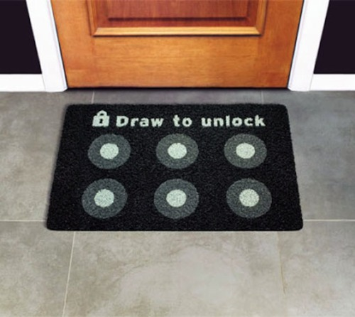 Draw to Unlock Doormat