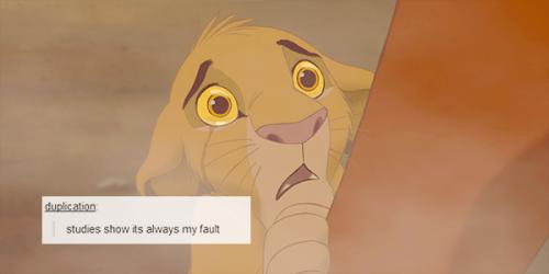 the lion king + tumblr .