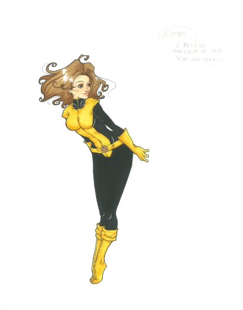 bettyfelon:  Kitty Pryde WIP,  by Volatile-Tifa