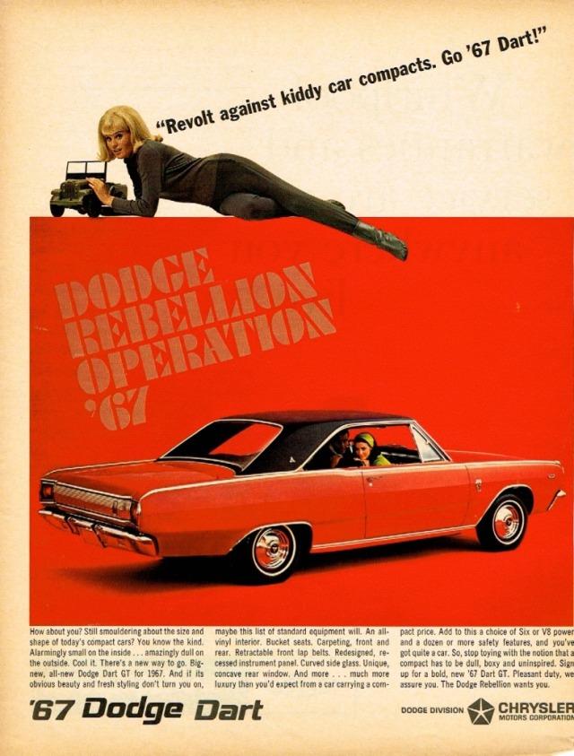 1967 Dodge Dart Advertisement #1967#1960s#1960s#60s#dodge dart#dodge#advertisement#my scan