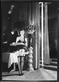 Ciro's Nightclub cigarette girl, C.1940's  Wow, could this be my job maybe?