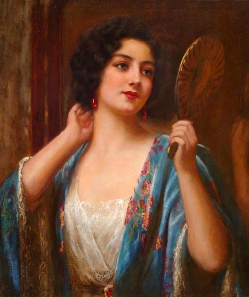"the-garden-of-delights:  ""Vanity"" by Abbey Altson (1866-1949)."