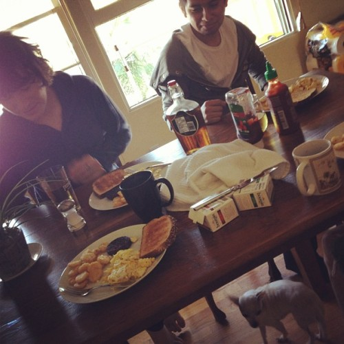 Bomb breakfast with Gabriel, Carlos, and Michael.  Good morning.
