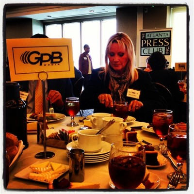 GPB's at @atlpressclub to hear #cnn prez Jeff Zucker! @claire_simms @jstewnews @rickeybevington (at The Commerce Club)