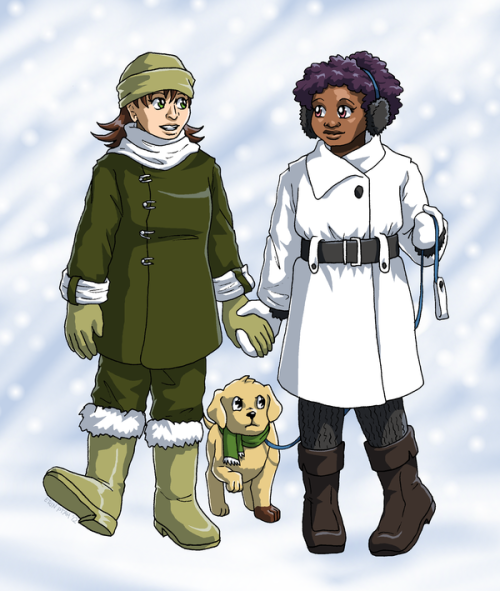 BICP - Dressed For Snow by *SailorPtah Friendshippy Sparrow/Bianca fluff. I think Patrick is trying to decide whether or not he approves. _____ Comic | Facebook | deviantART | Blog