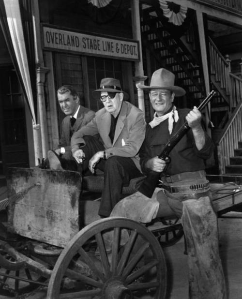 On the set of The Man Who Shot Liberty Valance