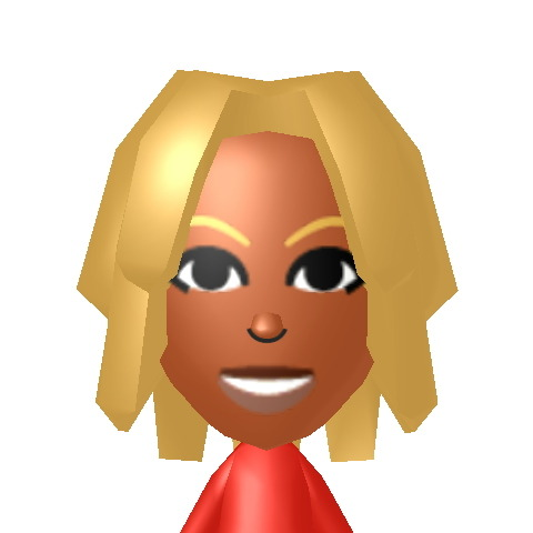 My first attempt at a Ronou Mii on my 3DS! I figured I should see how well my fictitious character designs translate into Mii form. My face did well… I think her face here is pretty decent, too, but there's something missing. Hmm… I remember doing Ronou's old design as a Mii on my Wii a few years back. It turned out really boring-looking. The 3DS Mii designer adds a few more options, but Ronou's design is totally different now — and naturally a little more interesting.