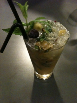 Vegan vanilla and grape mojito at Saf!